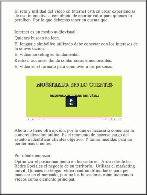 Por qué vídeo en Internet y Redes Sociales